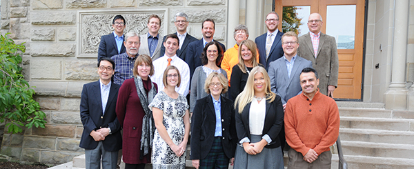 Alumni Board members on campus