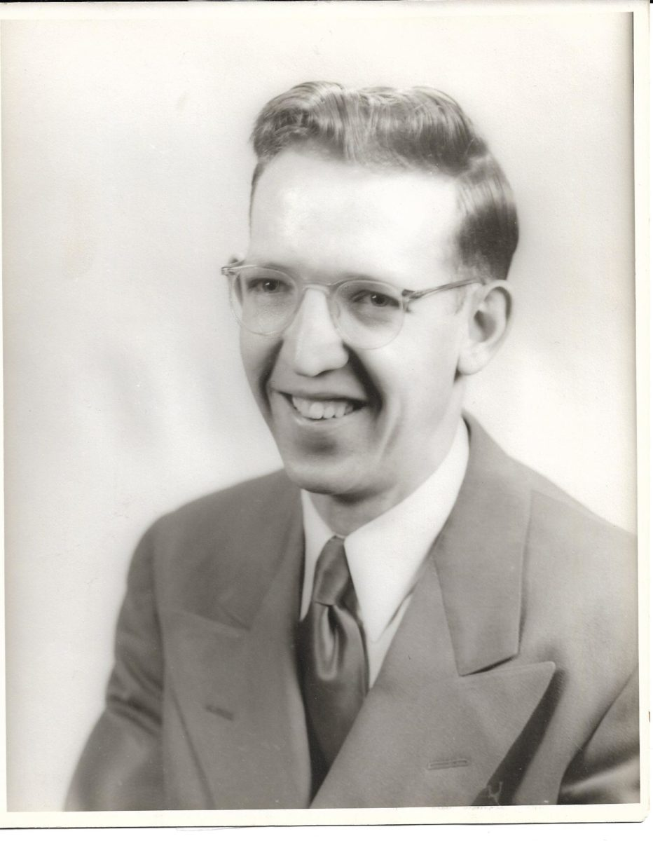 black and white portrait from Hope College in 1951