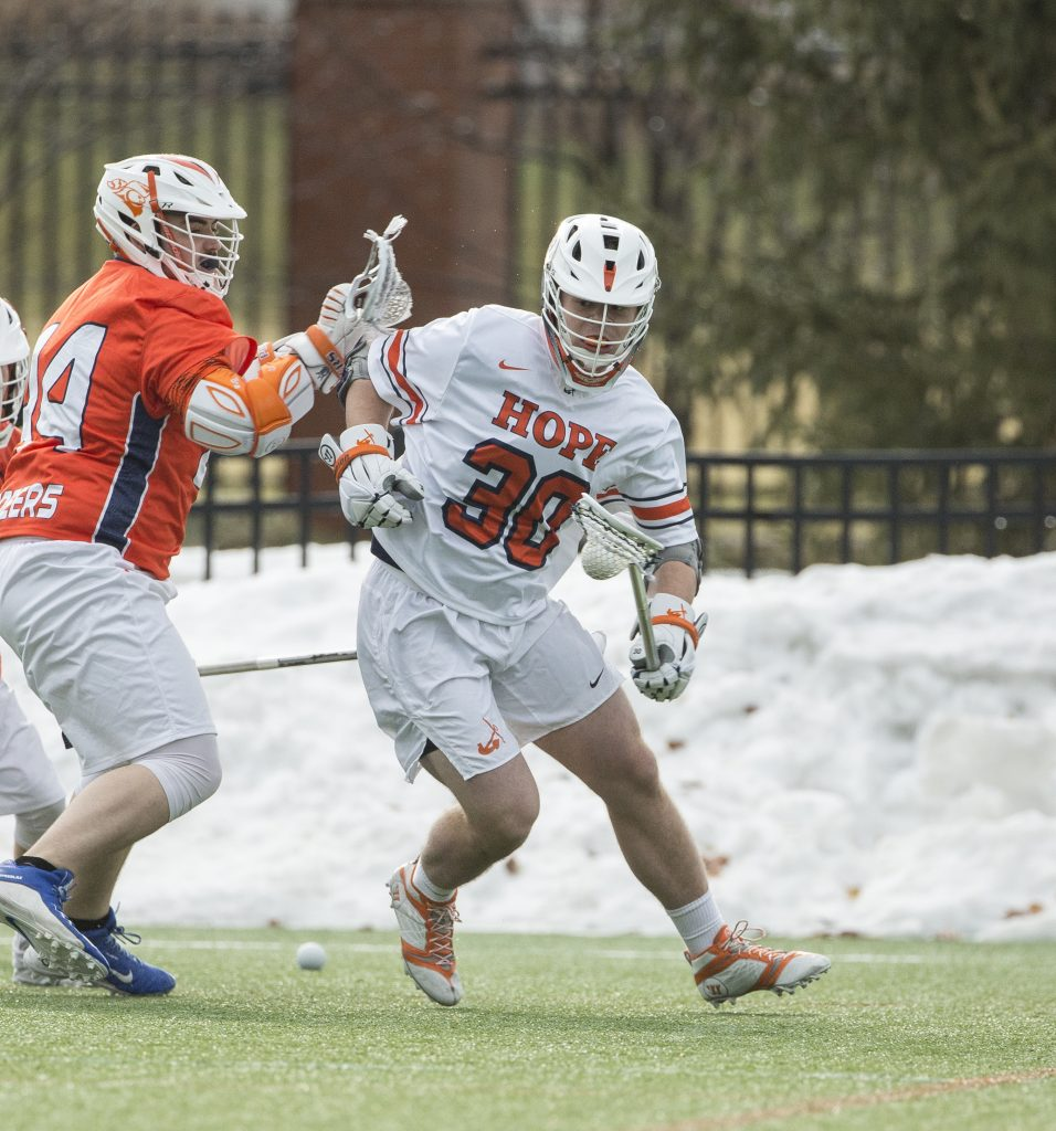 Nick Bazanky plays long-stick defender on the lacrosse team.