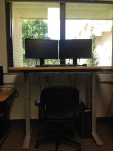 A stand up workstation for student use in VWF 115