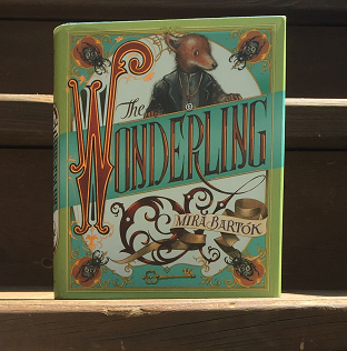 Book cover of The Wonderling by Mira Bartok, with an image of a one-eared fox above the title.