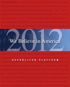 Republican platform 2012