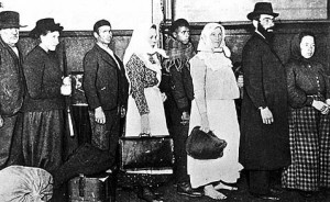 Jewish immigrants at Ellis Island