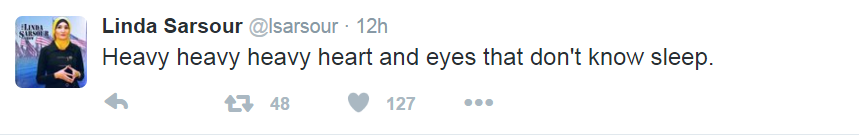 Linda Sarsour--heavy heart