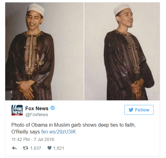 Obama is Muslim--photo proves it--Bill O'Reilly