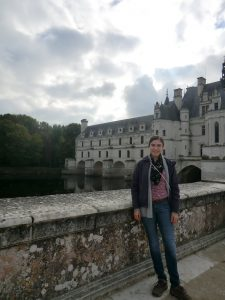 "Me in front of Chenonceau, my favorite castle of the ones I visited. It is a fascinating historical landmark— originally built in 1513, and both Diane de Poitiers and Catherine de Medici ""embellished"" it. Also, it's just magical!"