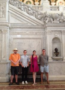 Me with fellow Hope College researchers Ian, Sam, and Jon at the Library of Congress.
