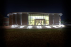 The Kruizenga Art Museum at night