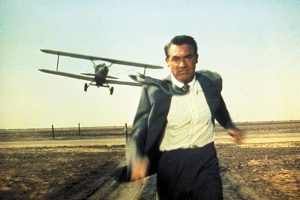 "The iconic shot from ""North by Northwest"""