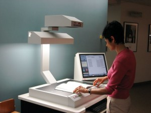 Library Acquires Book Scanner