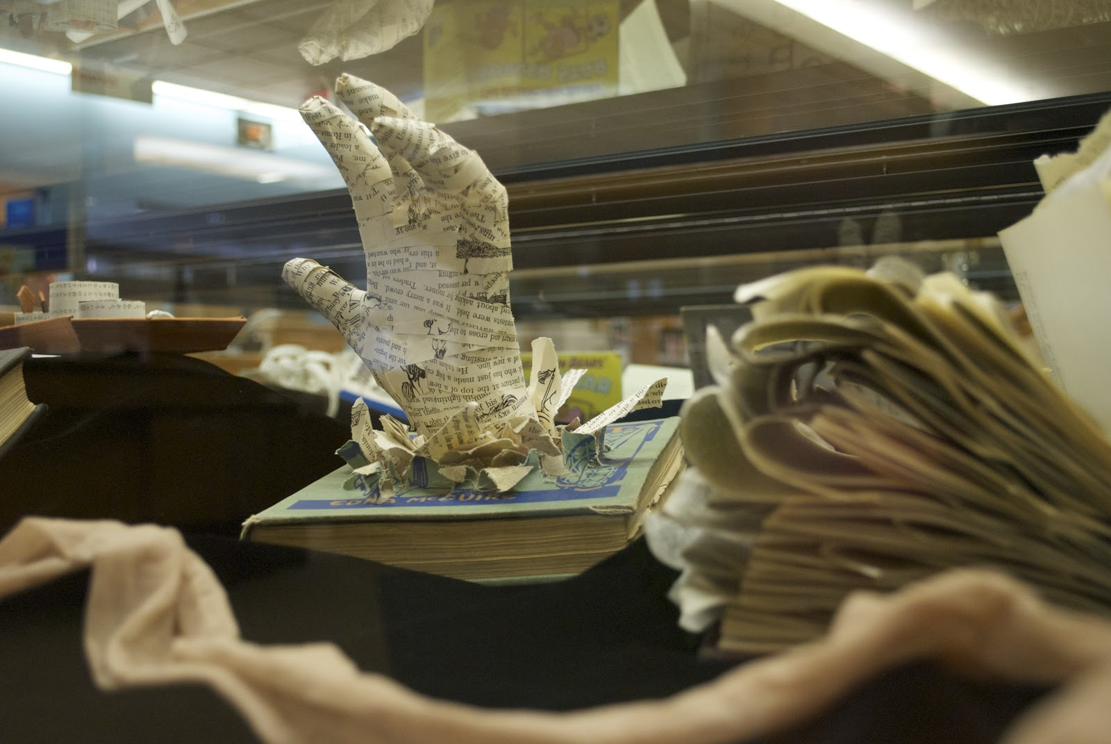 Altered book art exhibit on display hope college libraries for Books with art projects