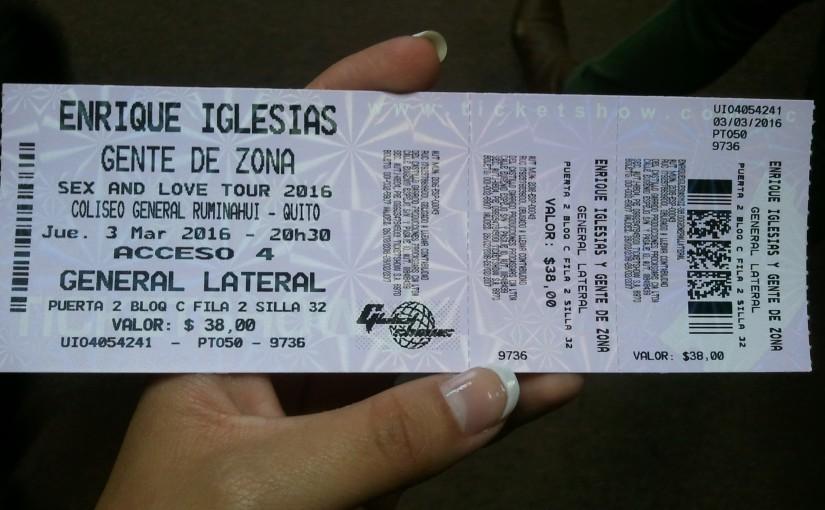 Seeing Enrique Iglesias!