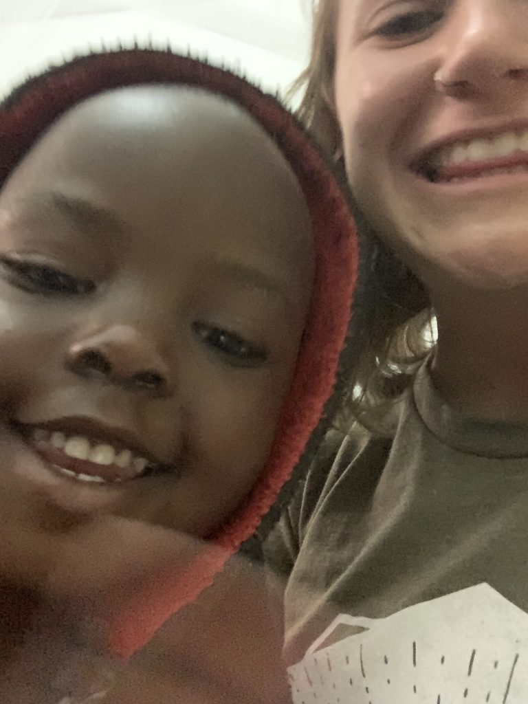 This is Anna, my favorite Tanzanian friend so far. She is 3 and is a family friend of my program director. She's a bundle of energy and is great at teaching me Swahili!
