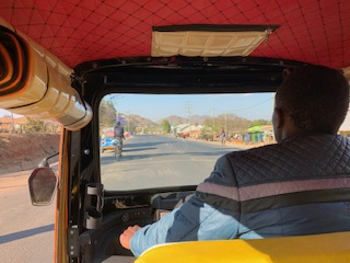 The view from the back of our bajaji