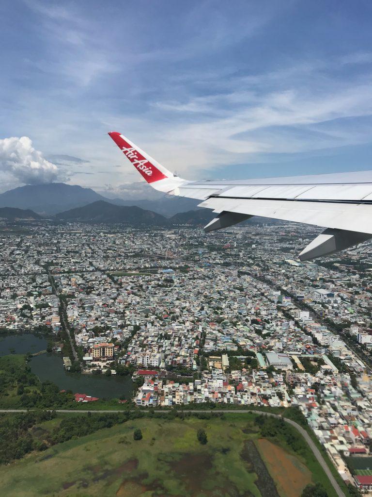 Landing in Da Nang, Vietnam