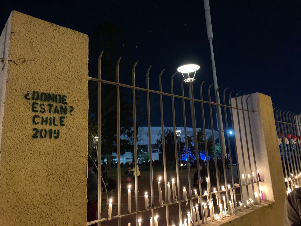 On September 11th, people gathered at the National Stadium to light candles for their loved ones who were victims of violence from the dictatorship.