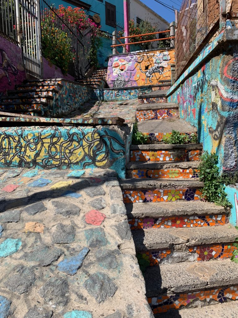 Anywhere you walk, throughout the city, you will see amazing artwork (i.e. the stairs!).