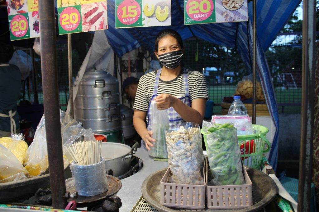 Edamame lady-  20 Baht for one bag