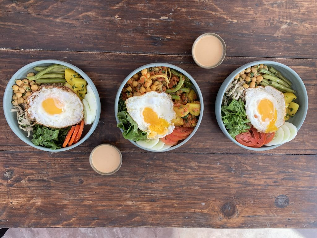 Different types of veggie bowls