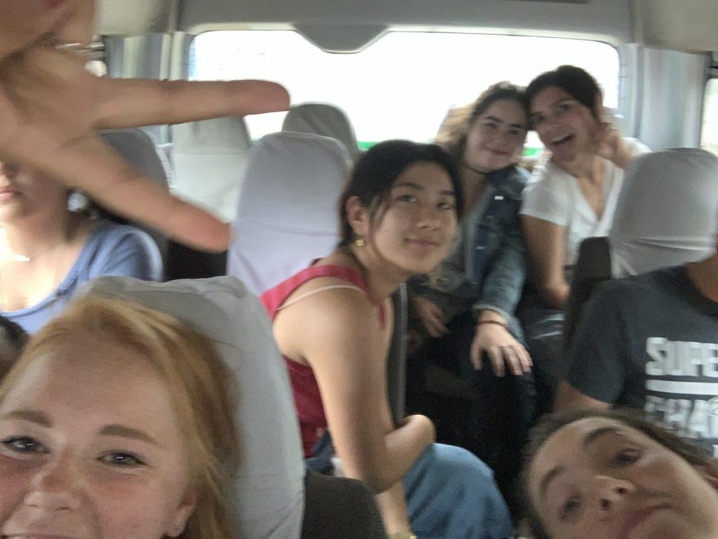 Bumpy ride selfies.