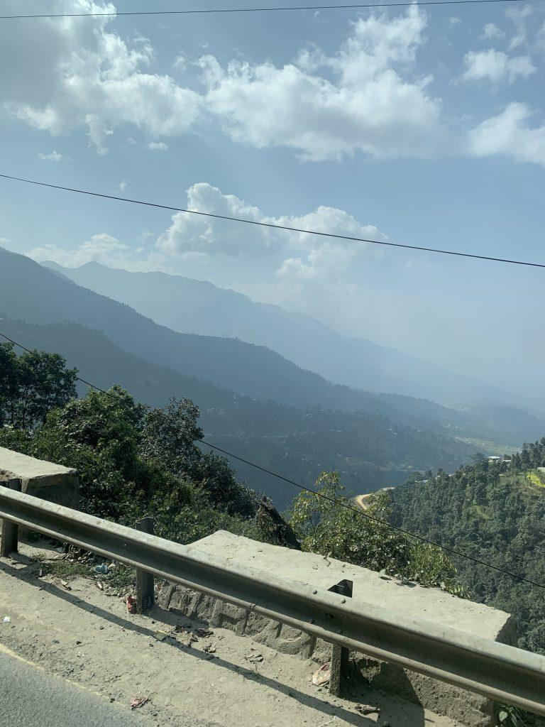 The mountain views.