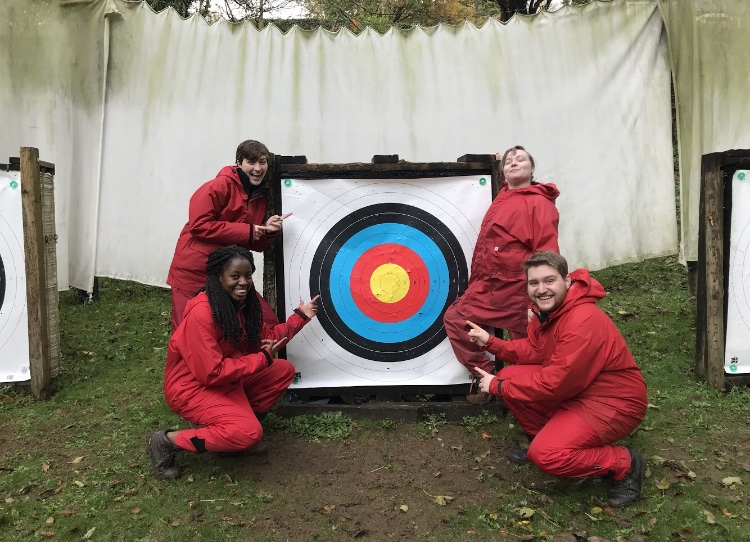Team Mid West posing with our target.