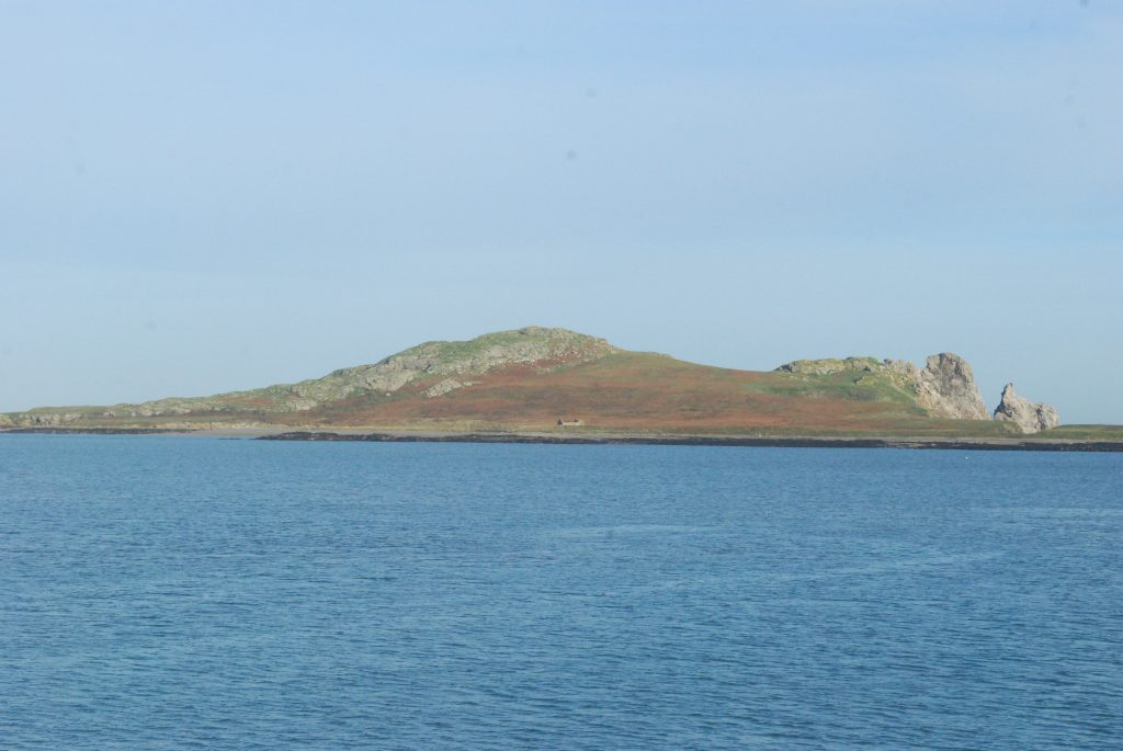 Our view of Ireland's Eye, an island just off the coast