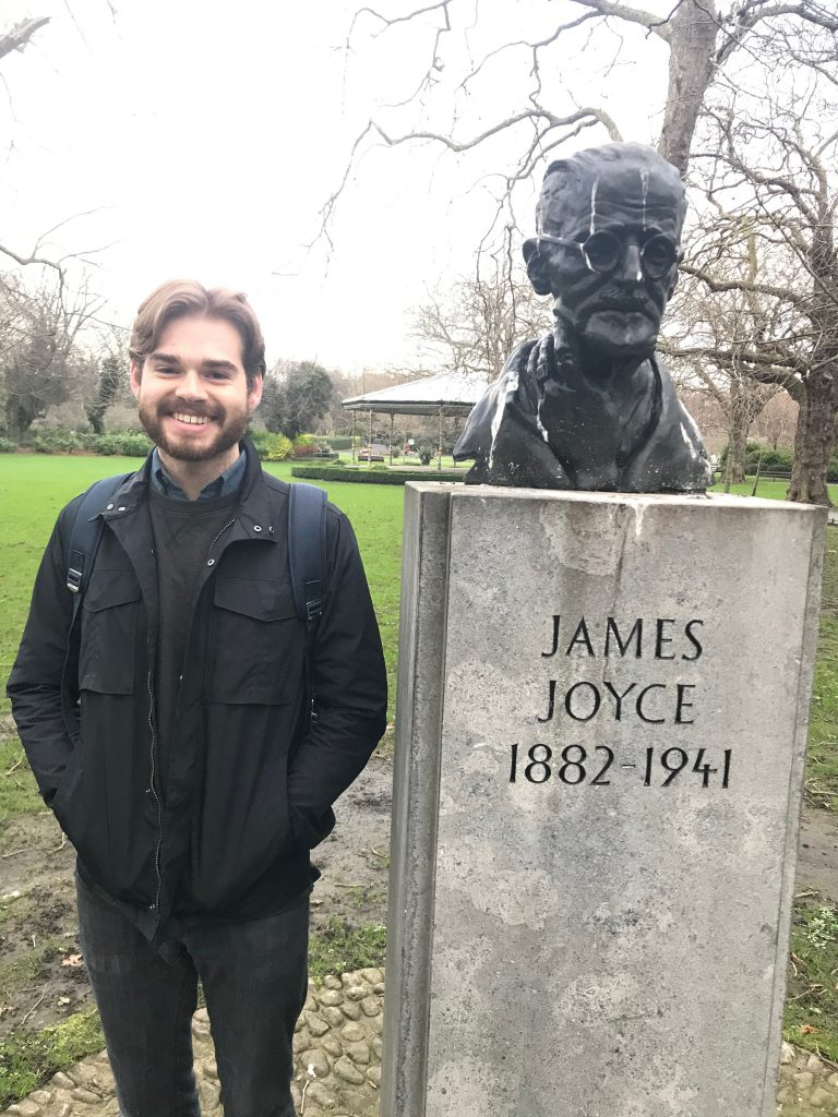 James Joyce and I both looking a bit worse for wear but ready to take on the day!