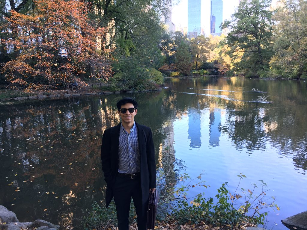 A photo of me in Central Park, one of my favorite spots in New York.