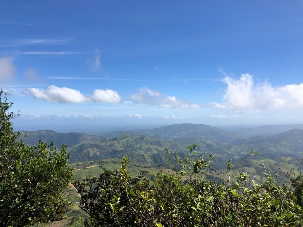 The view from the top of Pico Diego de Ocampo. The ocean is to the left, approx. 52 Km from the mountain.