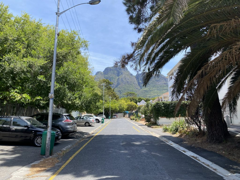 The view of Table Mountain from the street I live on