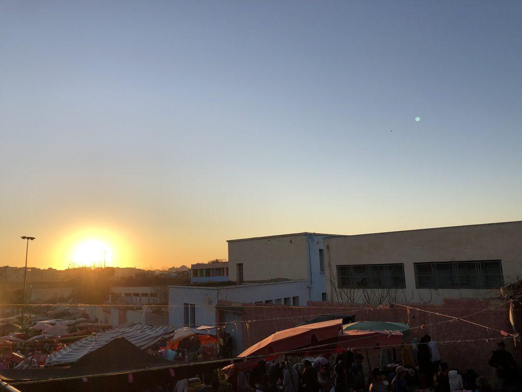 The medina at sunset