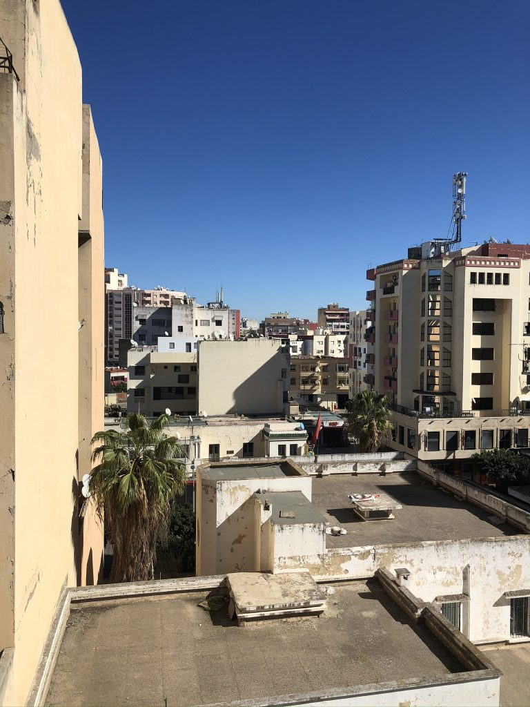 The view from our bedroom in Meknes