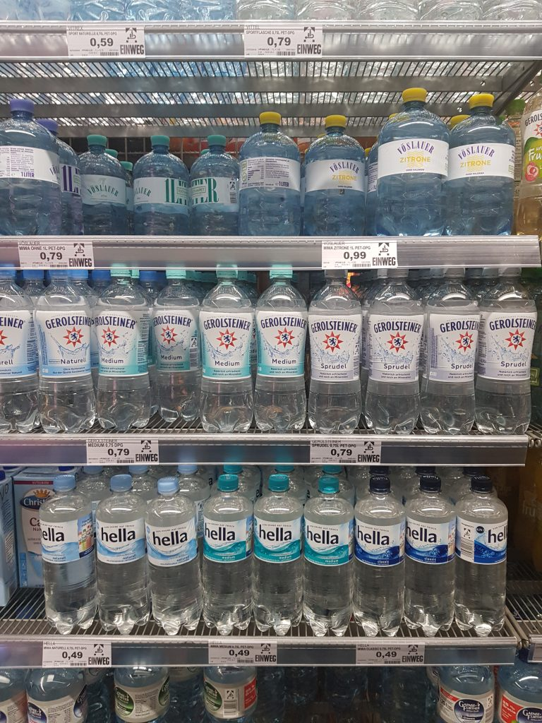 Different kinds of sparkling water that I thought were just normal water.