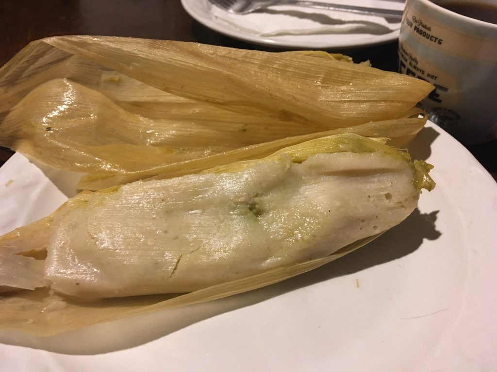 Feeling very spoiled eating Tamales for breakfast