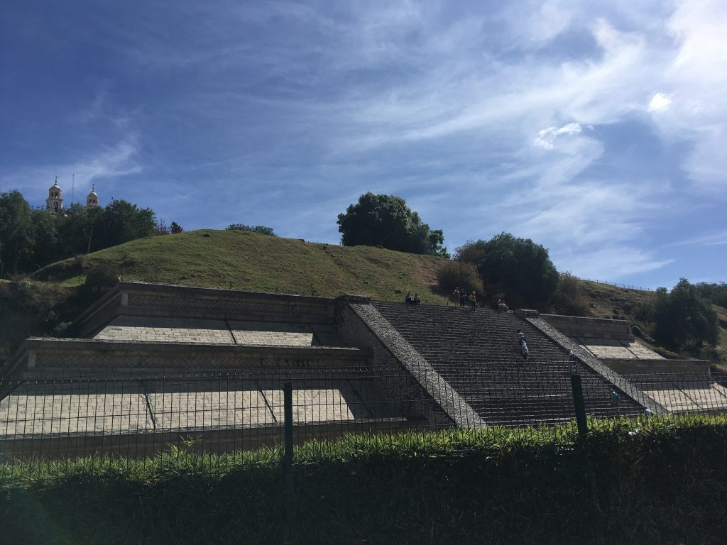A small part of the great pyramid of Cholula