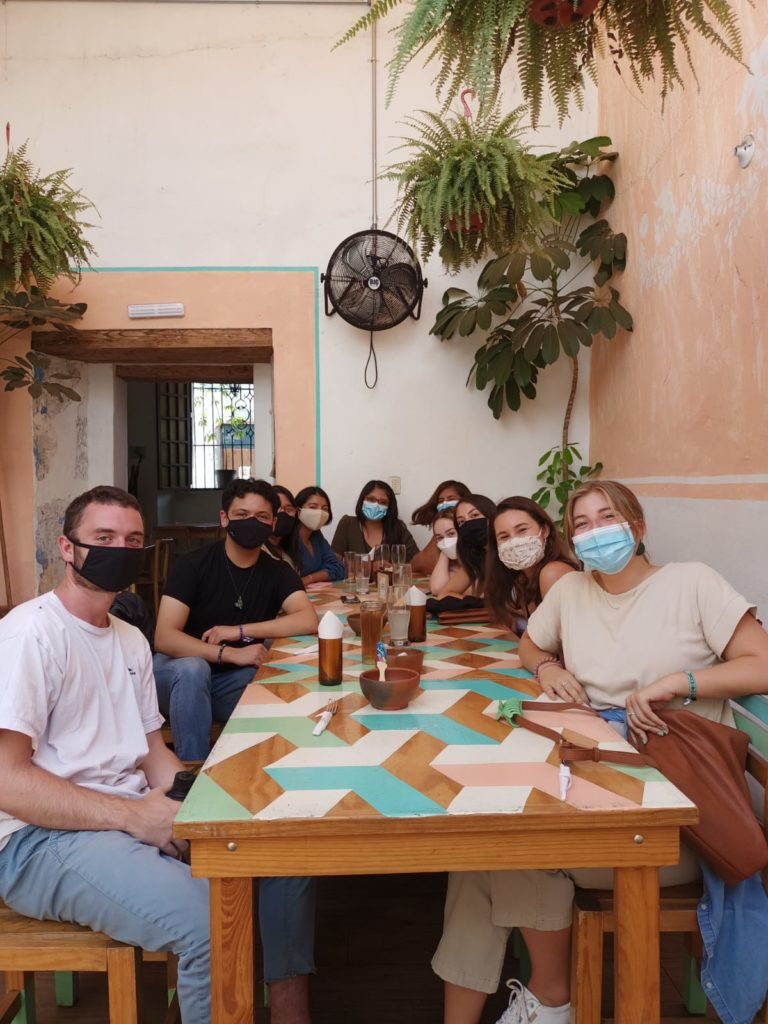 A photo of the amazing group of students I get to experience Oaxaca alongside.