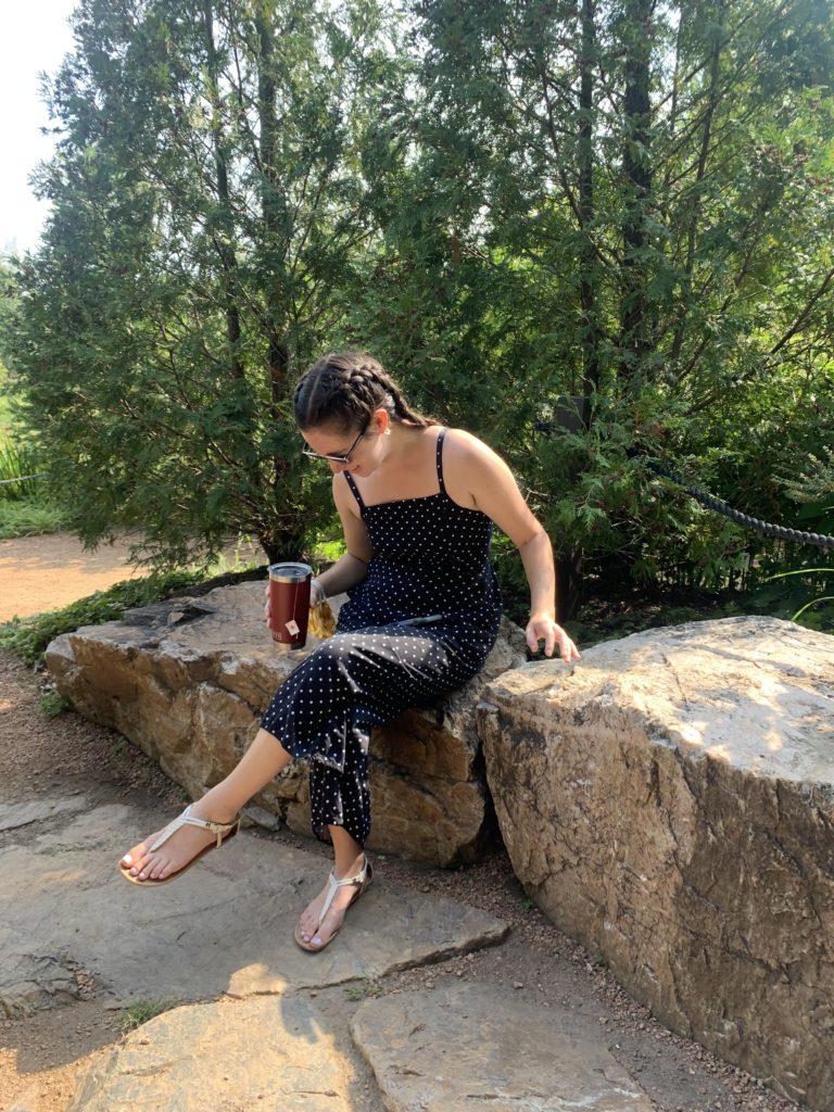 Emi in the Botanic Gardens