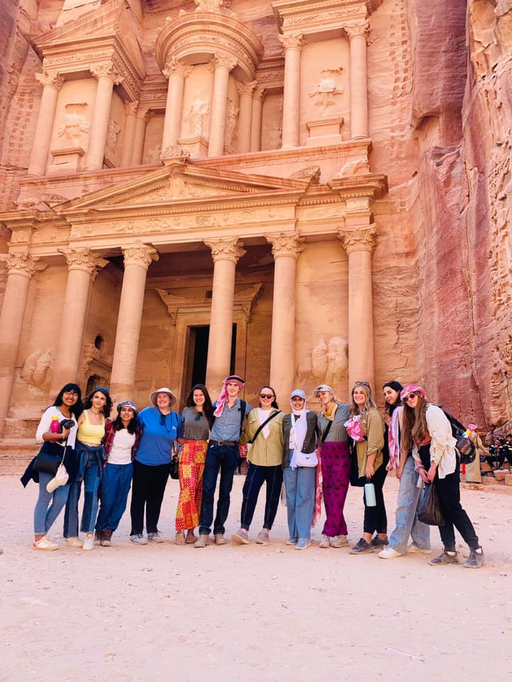 I don't know that I would've made it the 6.4 kilometers, 14,000 steps, and 5.5 hours at Petra if it hadn't been for my awesome program group. Our fearless leader and SIT program assistant, Razan, is in the middle, and guided us through a wonderful tour of the site.