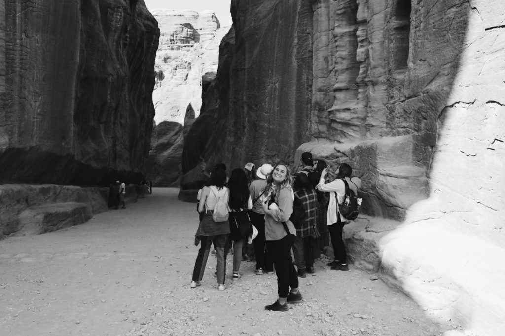 After spending lots of time in the sun, I was ecstatic to find my way back into the breezy siq after a long day exploring Petra.