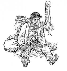"Joe, a tramp in the book ""Betsy and Joe,"" 1966."
