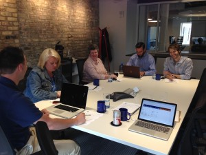 The Web Team meeting with Mighty in Grand Rapids.