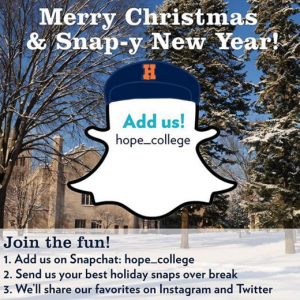 Hope College Snapchat launch
