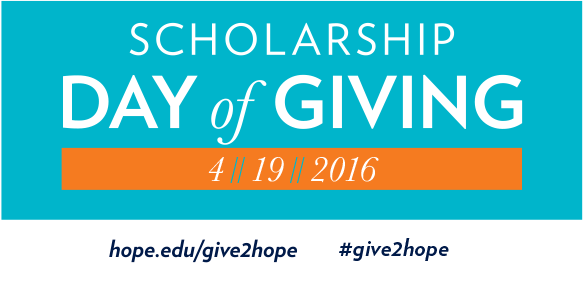 Scholarship Day of Giving social media graphic