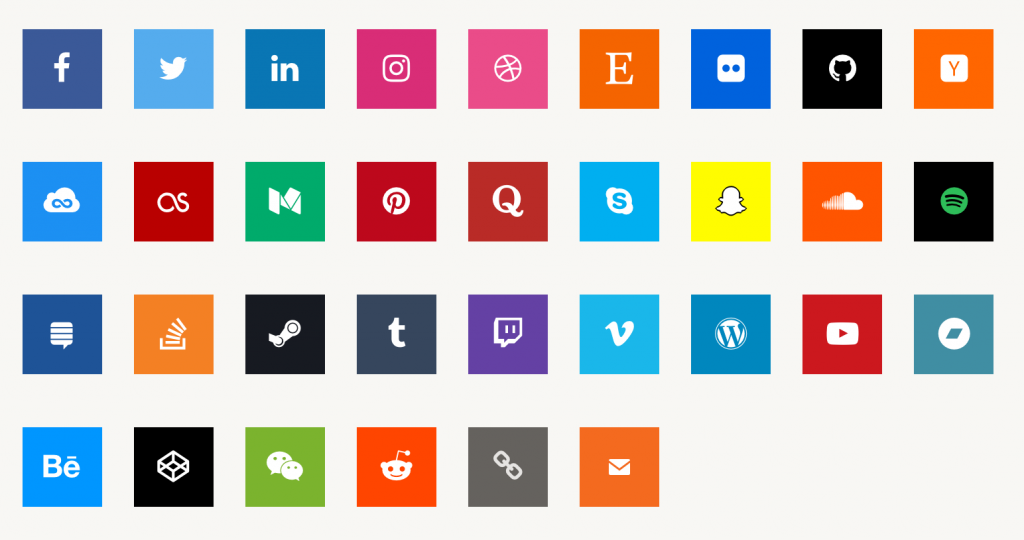 Profile Social Media Icons
