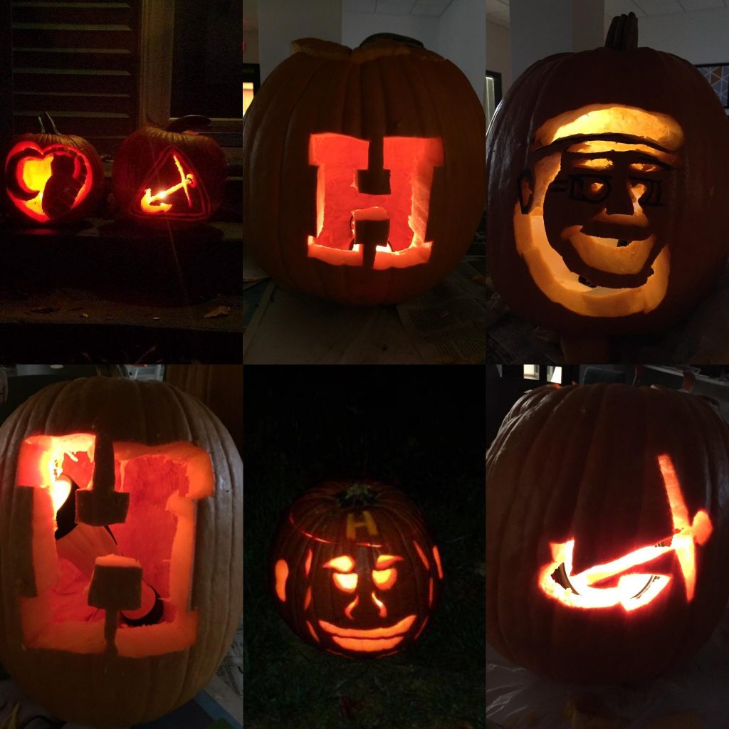Carved Hope pumpkins