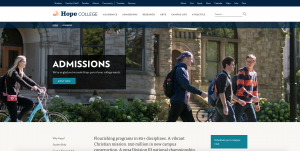 The new hope.edu accessible web design