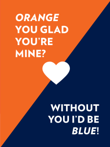 Orange you glad you're mine card
