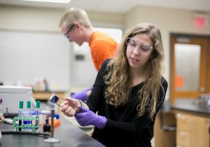 Hope College - Science students during a science lab shoot