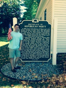Birthplace of the Republican Party. I felt patriotic! USA!